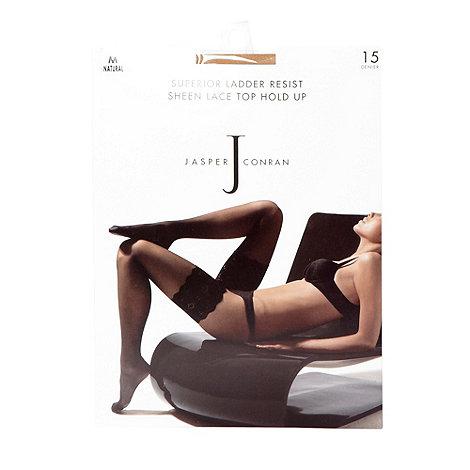 J by Jasper Conran - Designer natural 15D sheer lace hold ups