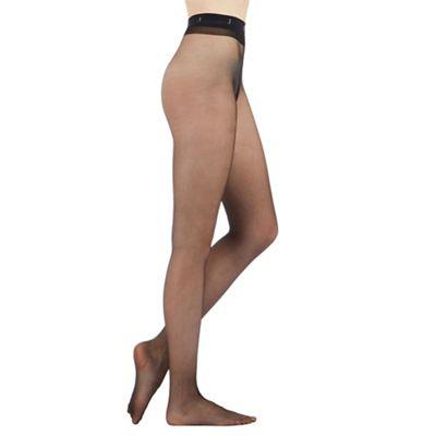 Designer black 10 denier matt tights