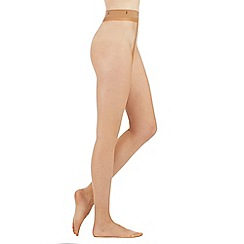 J by Jasper Conran - Natural 10 denier sheer matt tights