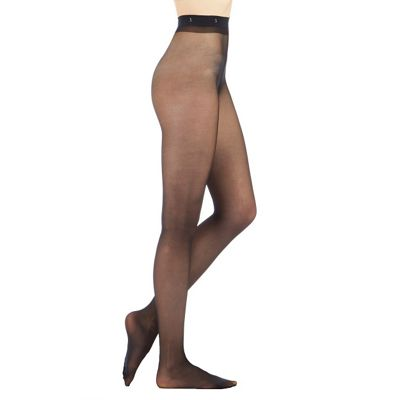 Designer black 15D ladder resist tights
