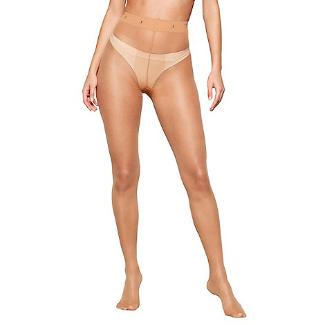 J by Jasper Conran - Natural 7 denier sheer ladder resistant tights