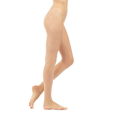 J by Jasper Conran - Designer natural 7D sheer open toe tights