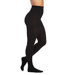 Pretty Polly - Black 200 denier fleecy tights