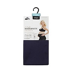 Debenhams - Pack of two navy 60 Denier hydrating maternity tights