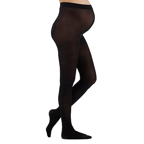 Debenhams - Pack of two black 60D maternity opaque tights