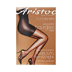 Aristoc - Black 10 denier sheer support tights
