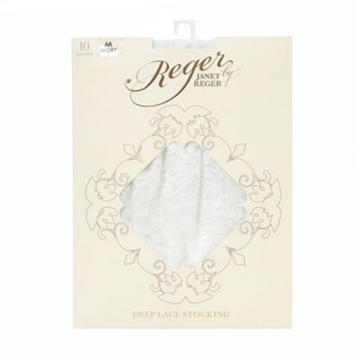 Dark cream 10D lace bridal stockings