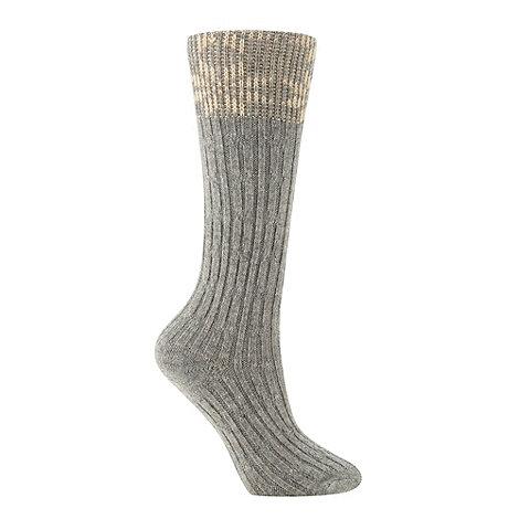 RJR.John Rocha - Designer grey fairisle socks