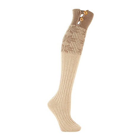 RJR.John Rocha - Designer natural fairisle knee length socks