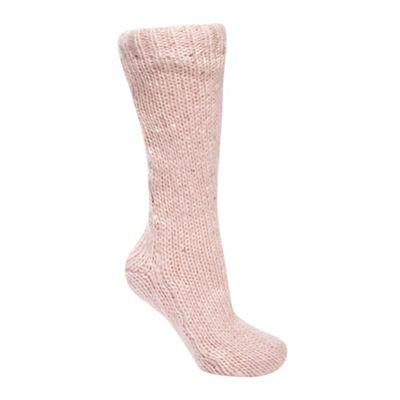 Designer pink sequin slipper socks