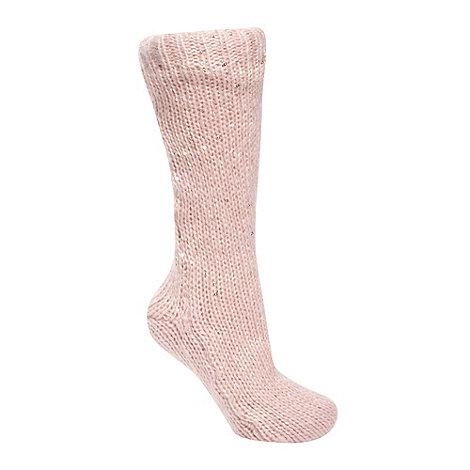 RJR.John Rocha - Designer pink sequin slipper socks
