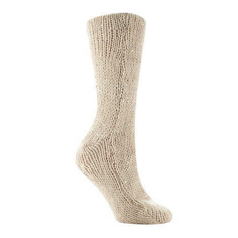 RJR.John Rocha - Designer natural sequin slipper socks