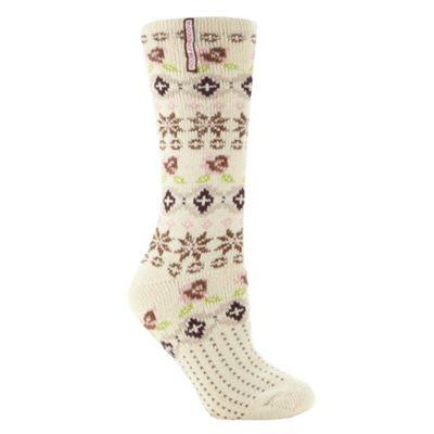 Designer cream fairisle socks