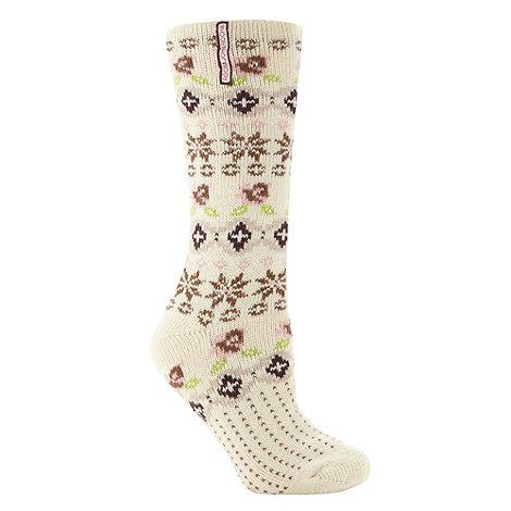 RJR.John Rocha - Designer cream fairisle socks