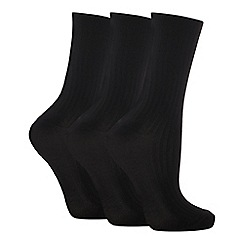 Debenhams - Pack of 3 black ankle socks