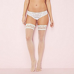 J by Jasper Conran - Ivory 10 denier sheer lace hold-ups