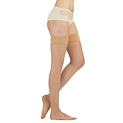 J by Jasper Conran - Designer nude 10D smooth top hold ups