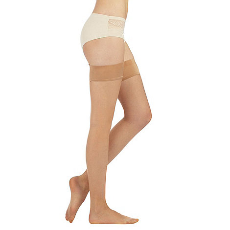 J by Jasper Conran - Designer natural 10D smooth top hold ups