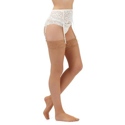 Designer natural 10D lace stockings