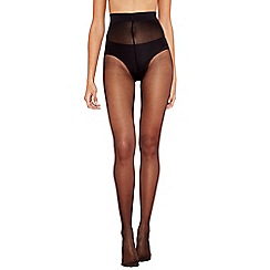 Debenhams - Black 10 denier sheer medium control support tights