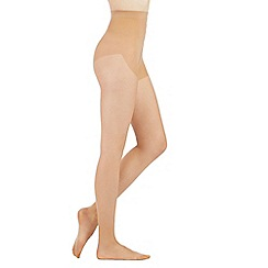 Debenhams - Natural 10 denier sheer medium control support tights