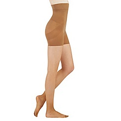 Debenhams - Black firm control high waist shaping 10 Denier tights