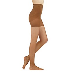 Debenhams - Natural 10 denier matte sheer firm control support tights