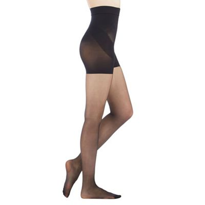 Debenham Black firm control tum, bum and thigh tight - . -