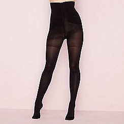 Debenhams - Black 80 denier opaque firm control support tights