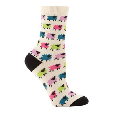 Cream sheep socks