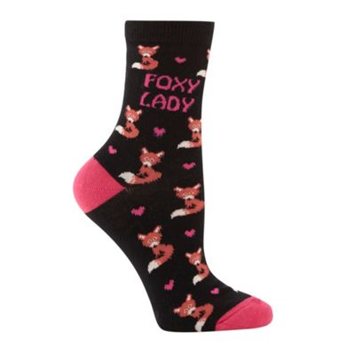 Black Foxy Lady socks