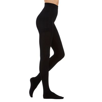 Black 200D fleecy opaque tights