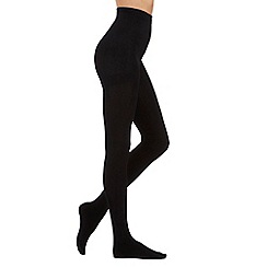 Pretty Polly - Black 200D fleecy opaque tights