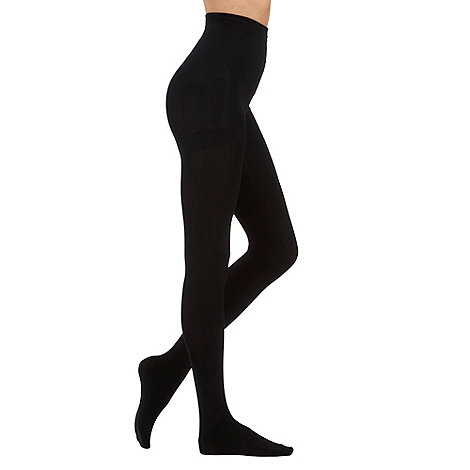 Pretty Polly - Black 200D fleecy opaque tights