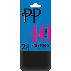 Pretty Polly - Black 40 denier knee high tights