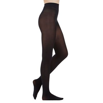 Black 80 Denier plush opaque tights