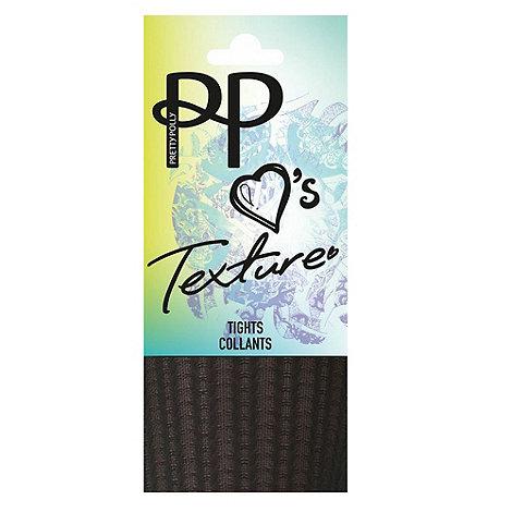 Pretty Polly - Black chevron opaque tights