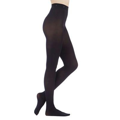 Designer black 100D opaque tights