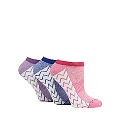 The Collection - Pack of three assorted zig zag socks