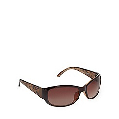 Beach Collection - Brown lace arm sunglasses