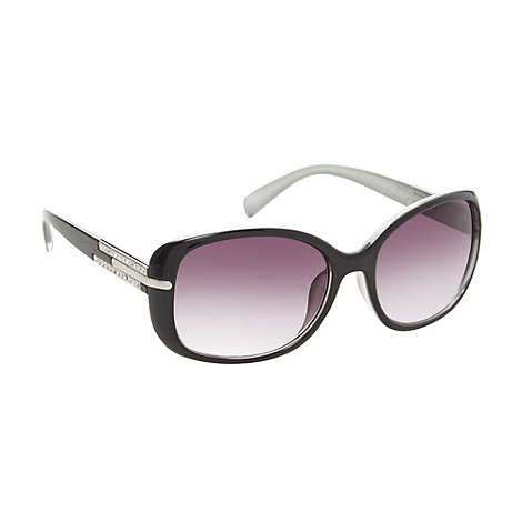 Beach Collection - Black contrast diamante sunglasses
