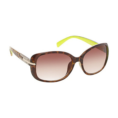 Beach Collection - Brown tortoiseshell diamante sunglasses