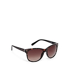 Red Herring - Brown animal print square plastic sunglasses