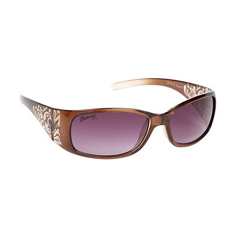 Mantaray - Khaki plastic etched flower sunglasses