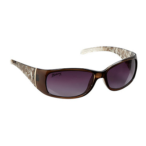 Mantaray - Khaki etched floral arm sunglasses