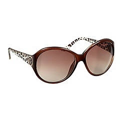 Guess - Modified oval frame sunglasses