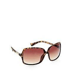 Principles by Ben de Lisi - Designer khaki tortoise shell plastic sunglasses