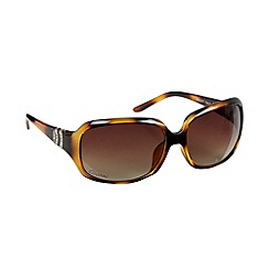 Gionni - Brown tortoiseshell logo sunglasses