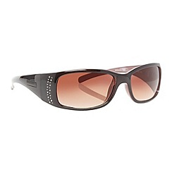 Bloc - Black diamante detail wrap sunglasses
