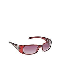 Bloc - Dark red 'Reims T'  T-bar temple sunglasses